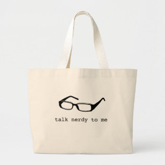 charla nerdy a mí bolsa tela grande