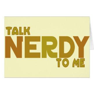 Charla nerdy a mí felicitaciones