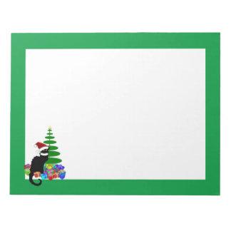 Charla Noir con el árbol de navidad y los regalos Libretas Para Notas