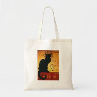 Charla Noir - gato negro Bolsas Lienzo
