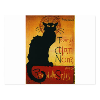 Charla Noir - gato negro Postal