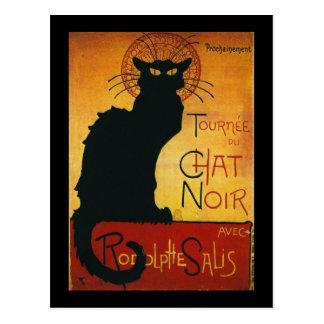 Charla Noir - gato negro Tarjetas Postales