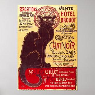 Charla Noir, Vente Hôtel Drouot Steinlen del vinta Posters