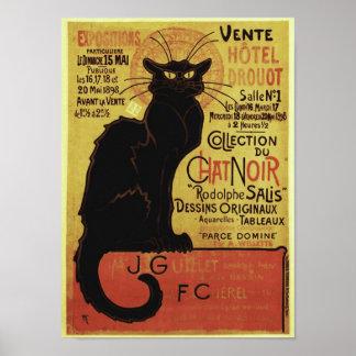 Charla Noir, Vente Hôtel Drouot Steinlen del vinta Poster