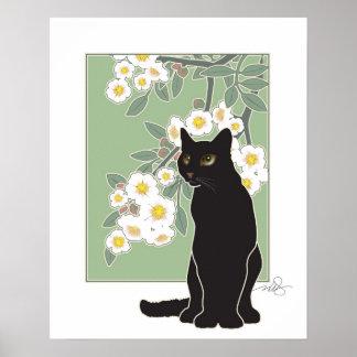 Charla Noir y Fluer de Pommier Poster