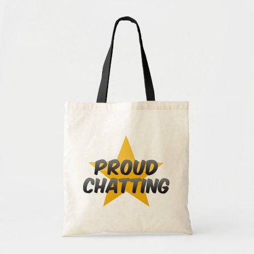 Charla orgullosa bolsas de mano