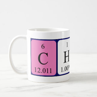 Charla periodic table name mug