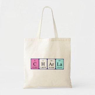 Charla periodic table name tote bag