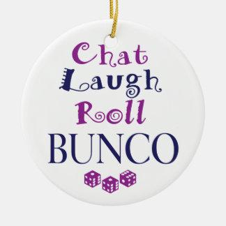 charla, risa, rollo - bunco ornamentos de reyes