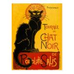 Charla Steinlen Noir de Nouveau del arte del gato  Tarjetas Postales