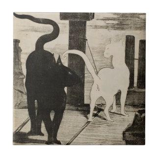 Charlas del DES de Eduardo Manet Le Rendez-vous Azulejo Cuadrado Pequeño