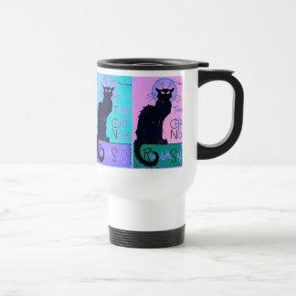 Charlas Noir (gatos negros) Taza De Viaje