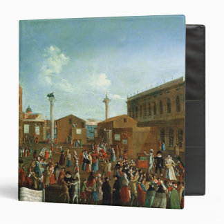 Charlatans in the Piazzetta San Marco, Venice 3 Ring Binder