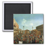 Charlatans in the Piazzetta San Marco, Venice Fridge Magnet
