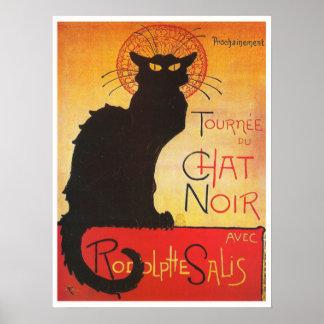 Charle Noir por el gato francés del cabaret del Póster