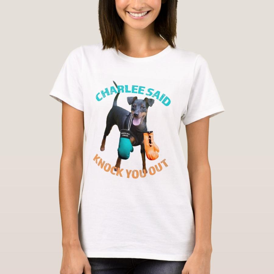 Charlee Said Knock You Out Women's Tee - Casual Long-Sleeve Street Fashion Shirts