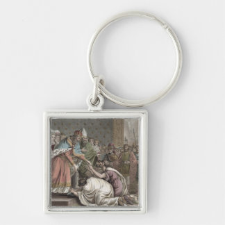 Charlemagne (742-814) Receives the Ambassadors fro Keychain