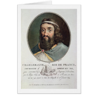 Charlemagne (747-814), King of France, engraved by Card
