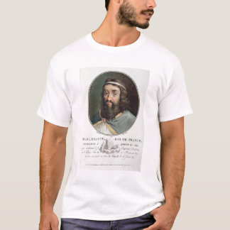 Charlemagne (747-814), King of France, engraved by T-Shirt