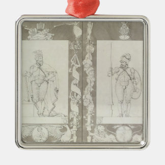 Charlemagne  and Heymon, 1804-5 Metal Ornament