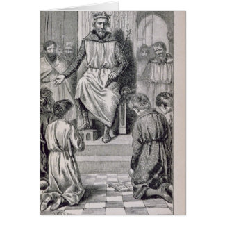 Charlemagne  and the Boys Card