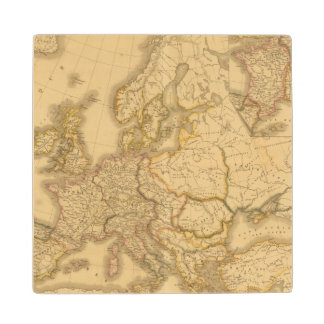 Charlemagne Empire Maple Wood Coaster