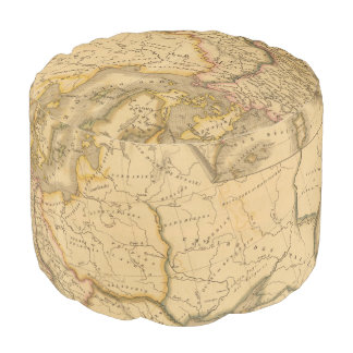 Charlemagne Empire Round Pouf