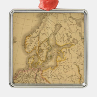 Charlemagne Empire Square Metal Christmas Ornament