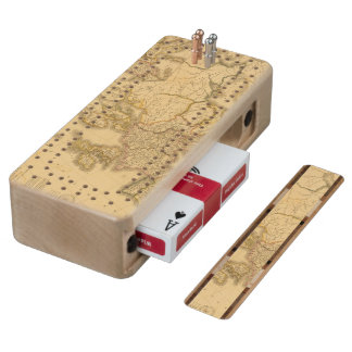Charlemagne Empire Wood Cribbage Board
