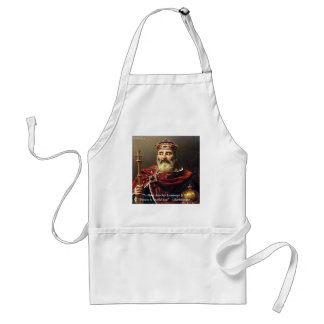 Charlemagne & Famous Languages Quote Adult Apron