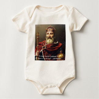 Charlemagne & Famous Languages Quote Baby Bodysuit