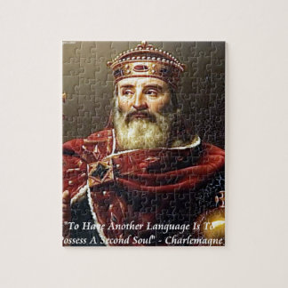 Charlemagne & Famous Languages Quote Jigsaw Puzzle