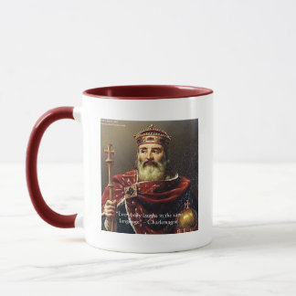 "Charlemagne ""Laughter Language"" Quote Gifts & Tees Mug"