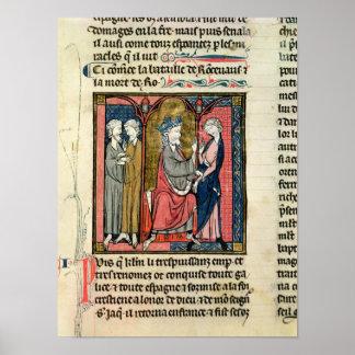 Charlemagne sending Ganelon Poster