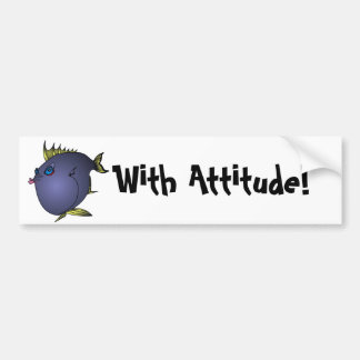 """""""Charlene"""" Fish With Attitude by Mike Quinn Bumper Sticker"""