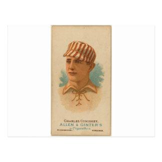 Charles 1887 Comiskey Postal