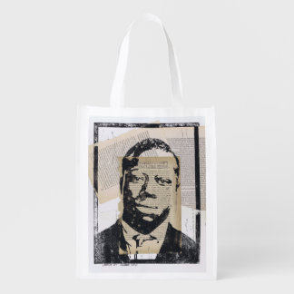 Charles #1 Printmaking Collage Grocery Bag