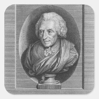 Charles Agustín de Ferriol Comte d Argental Pegatina Cuadradas Personalizadas
