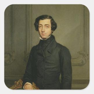 Charles-Alexis-Enrique Clerel de Tocqueville 1850 Pegatina Cuadrada