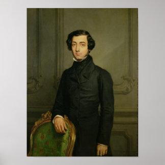 Charles-Alexis-Enrique Clerel de Tocqueville 1850 Póster