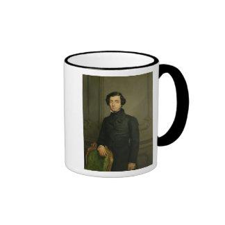 Charles-Alexis-Enrique Clerel de Tocqueville 1850 Taza A Dos Colores