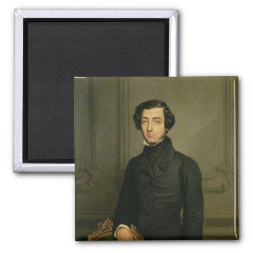 Charles-Alexis-Henri Clerel de Tocqueville  1850 2 Inch Square Magnet