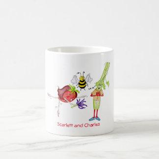 Charles and Scarlett 11 oz classic white mug. Coffee Mug