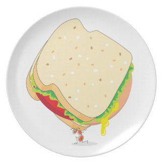 Charles Antlas™_Think Big_Baloney Sandwich Party Plate