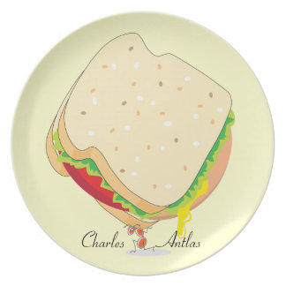 Charles Antlas™_Think Big_signature_collectible Party Plate