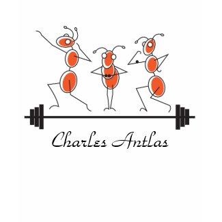 Charles Antlas™_tri-pose barbell shirt