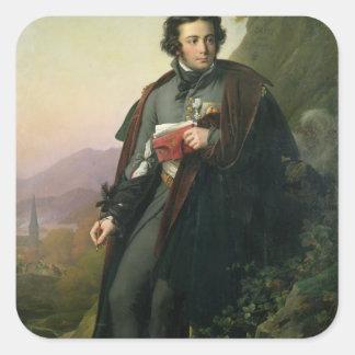Charles-Artus de Bonchamps 1824 Pegatina Cuadradas Personalizadas