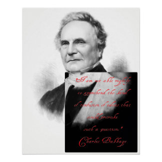 Charles Babbage on the Confusion of Mind Poster