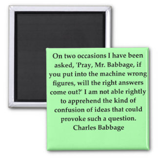 Charles Babbage quote 2 Inch Square Magnet
