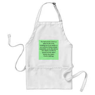 Charles Babbage quote Adult Apron